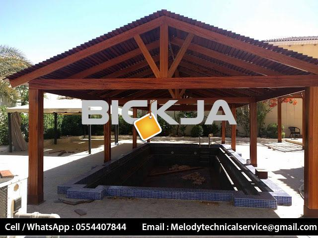 Wooden Gazebo In Palm Jumeirah | Gazebo Manufacturer Dubai | Gazebo in Jumeirah Islands  M - 4/4