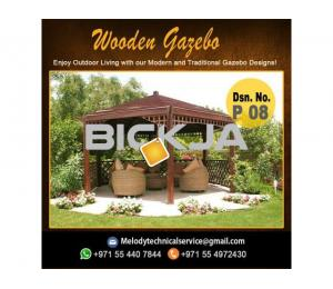 Wooden Gazebo Arabian ranches | Gazebo in Green community | Gazebo Suppliers in Dubai