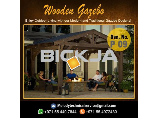 Garden Gazebo Suppliers | Gazebo Manufacturer Dubai | Wooden Gazebo UAE - 1/4