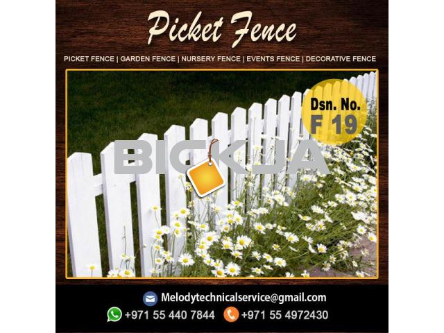 Garden Fence in Al Barsha | Wooden Fence in Dubai | Picket Febce Emirates Hills - 3/4