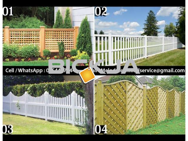 Garden Fence in Al Barsha | Wooden Fence in Dubai | Picket Febce Emirates Hills - 4/4