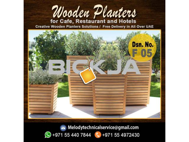 Wooden Planters Box | Garden Planters Dubai | Planters Box Suppliers - 1/4