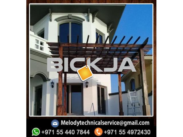 Pergola in Jumeirah Golf Estates | Wooden pergola | Pergola in Victory Heights, Dubai - 1/4