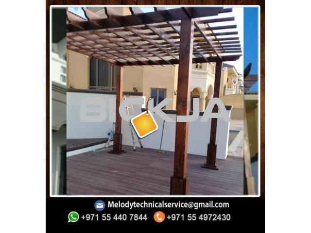 Pergola in Jumeirah Golf Estates | Wooden pergola | Pergola in Victory Heights, Dubai - 2/4