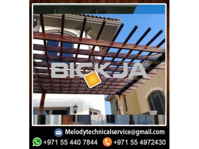 Pergola in Jumeirah Golf Estates | Wooden pergola | Pergola in Victory Heights, Dubai - 3/4