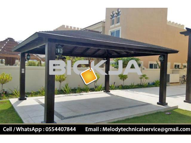 Gazebo in Jumeirah Golf Estates | Wooden Gazebo | Gazebo in Victory Heights, Dubai - 2/4