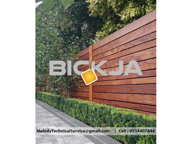 Wooden Fence Dubai Meadows | Garden Fence in The Springs | Fence In Al Furjan - 3/4