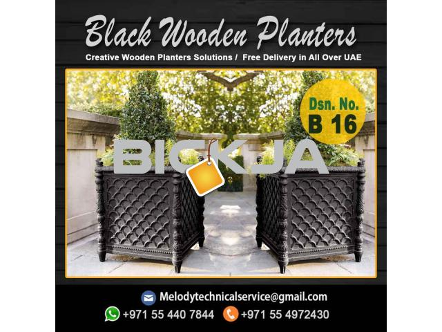 Garden Planters Box Suppliers | Wooden Planters in Dubai | Outdoor Planters - 1/4