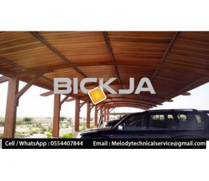 Wooden Sun Shades | Wooden car Parking Shades Dubai | Car Parking Pergola