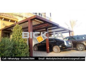 Car Parking Shades Shades Dubai | Wooden Walkway Shades