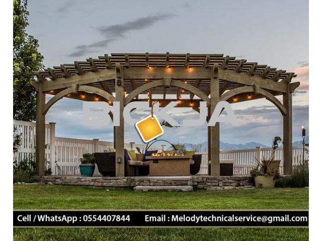 Gazebo in Al Barsha | Garden Gazebo in Dubai | Wooden Gazebo Emirates Hills - 4/4
