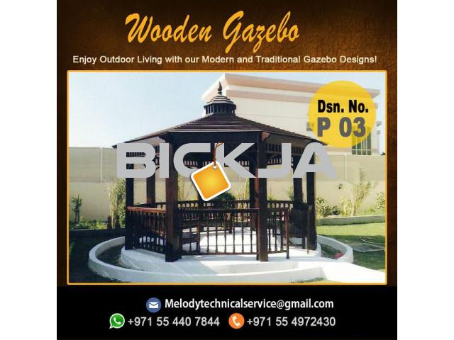 Wooden Gazebo Dubai Meadows | Gazebo in The Springs | Gazebo In Al Furjan - 1/4