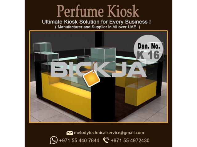 Cosmetics Products Kiosk in Dubai | Wooden Kiosk | kiosk Design UAE - 1/4