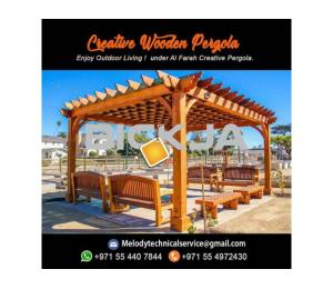 Wooden Pergola In Palm Jumeirah | Pergola Manufacturer Dubai | pergola in Jumeirah Islands