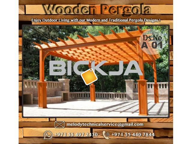 Wooden Pergola Suppliers | Pergola Lighting in Dubai | Balcony Pergola | Pergola with Curtains - 1/4