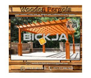 Wooden Pergola Suppliers | Pergola Lighting in Dubai | Balcony Pergola | Pergola with Curtains
