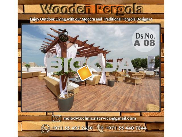 Wooden Pergola Suppliers | Pergola Lighting in Dubai | Balcony Pergola | Pergola with Curtains - 2/4