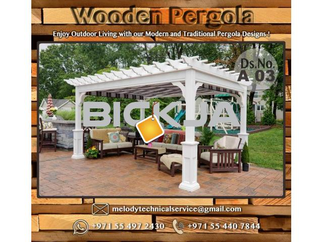Wooden Pergola Suppliers | Pergola Lighting in Dubai | Balcony Pergola | Pergola with Curtains - 4/4