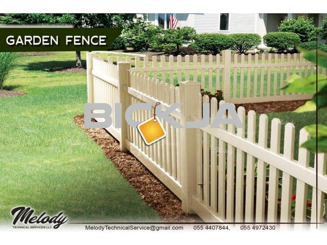 Fence | Picket Fence in Dubai | Wooden Privacy Fence Suppliers | Garden Fence | Kids Play Ground Fen - 1/4