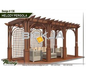 Pergola | Outdoor Pergola in Dubai | Wooden Pergola Suppliers | Garden Area Pergola in UAE