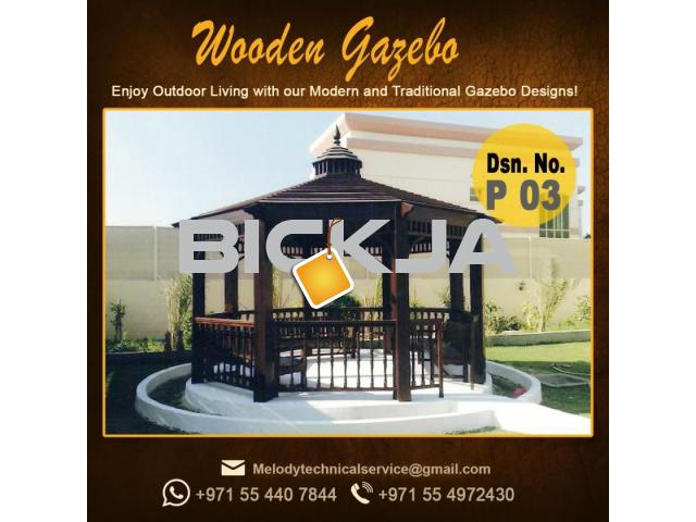 Gazebo | Arabian Gazebo Suppliers | Outdoor Gazebo in Abu Dhabi | Seating Area Wooden Gazebo - 1/4