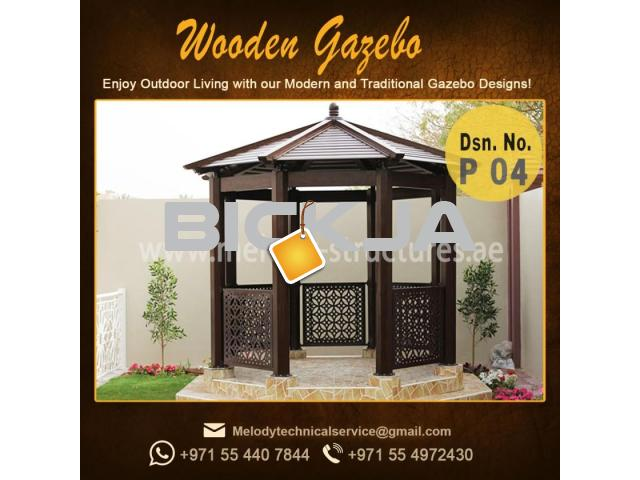 Gazebo | Arabian Gazebo Suppliers | Outdoor Gazebo in Abu Dhabi | Seating Area Wooden Gazebo - 3/4