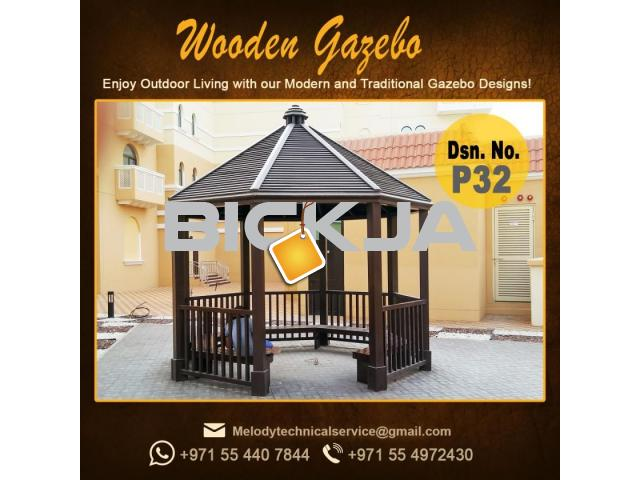 Gazebo | Arabian Gazebo Suppliers | Outdoor Gazebo in Abu Dhabi | Seating Area Wooden Gazebo - 4/4