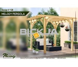 Pergola | Outdoor Pergola in Abu Dhabi | Wooden Pergola Suppliers | Garden Area Pergola in UAE