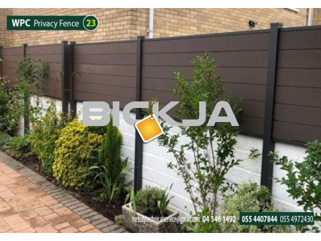 WPC Fence in Abu Dhabi | WCP Fence Suppliers in UAE | WPC Fence in Garden area - 1/4
