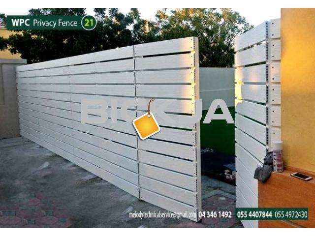 WPC Fence in Abu Dhabi | WCP Fence Suppliers in UAE | WPC Fence in Garden area - 2/4