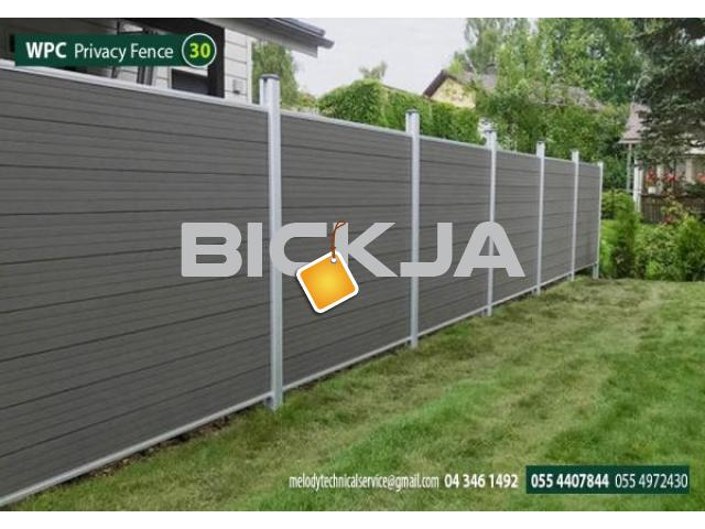 WPC Fence in Abu Dhabi | WCP Fence Suppliers in UAE | WPC Fence in Garden area - 3/4