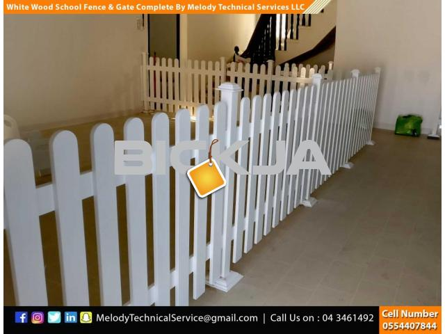 Wooden Fence Suppliers in Abu Dhabi | Picket Fence | Swimming Pool Fence | Kids Play Ground Fence - 1/4