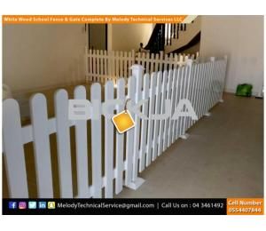 Wooden Fence Suppliers in Abu Dhabi | Picket Fence | Swimming Pool Fence | Kids Play Ground Fence