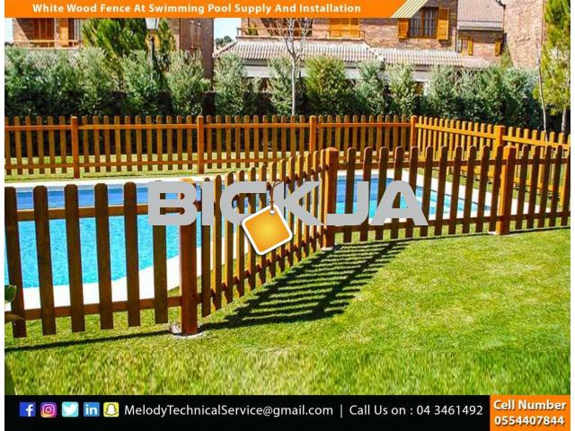 Wooden Fence Suppliers in Abu Dhabi | Picket Fence | Swimming Pool Fence | Kids Play Ground Fence - 2/4