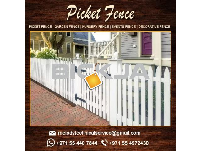 Wooden Fence Suppliers in Abu Dhabi | Picket Fence | Swimming Pool Fence | Kids Play Ground Fence - 3/4