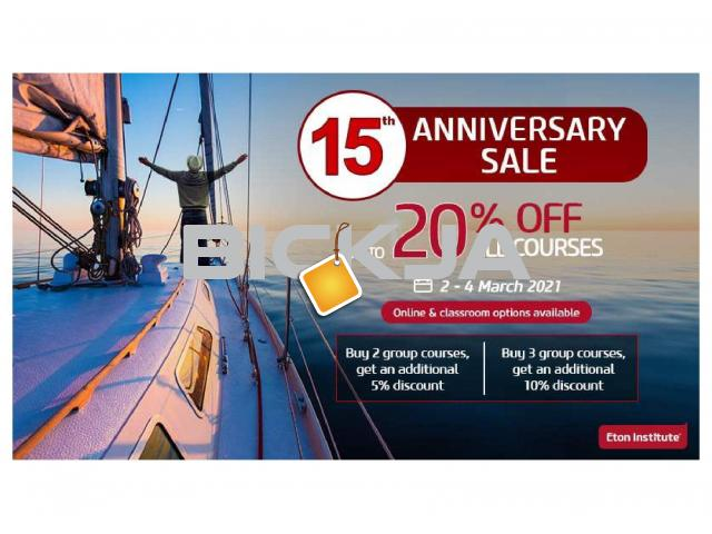 Eton Institute's 15th Anniversary Sale! - Learn a Language for less - 1/1