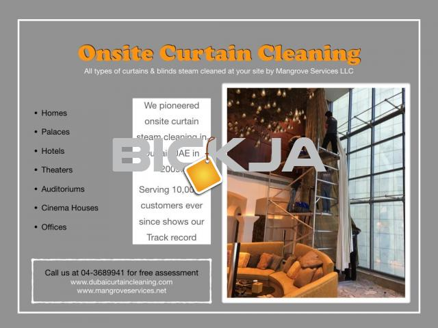 curtain Steam cleaning and sofa steam cleaning services in dubai - 2/2