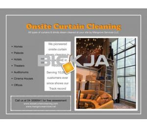 curtain Steam cleaning and sofa steam cleaning services in dubai